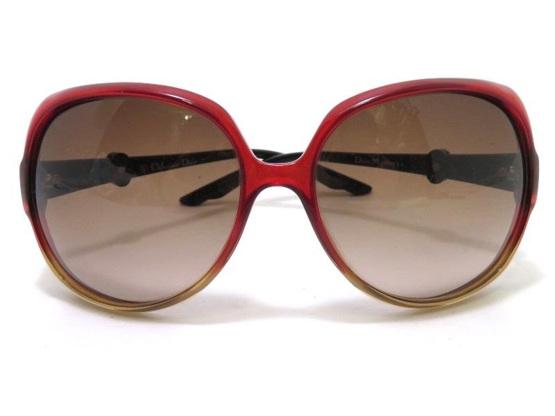 Dior ディオール サングラス プラスチック レッド・ブラウン WHGCC 【472】 JH