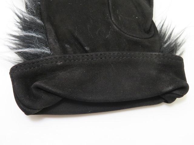 CHANEL シャネル ココマークグローブ ブラック グレー スウェード 手袋【472】HG image number 5