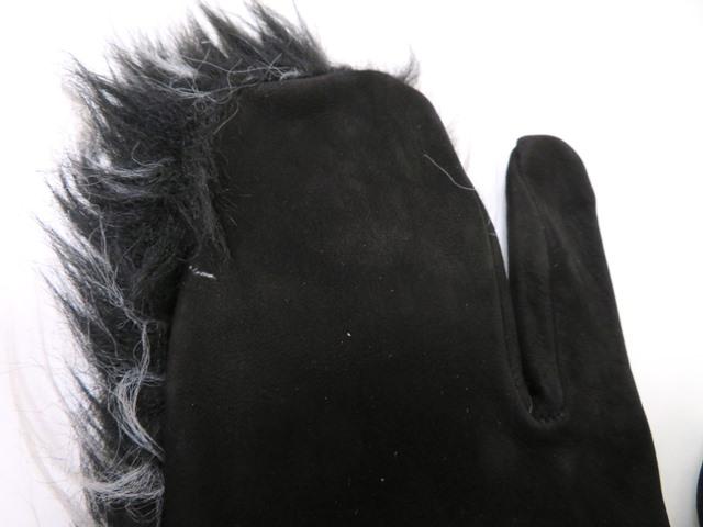 CHANEL シャネル ココマークグローブ ブラック グレー スウェード 手袋【472】HG image number 6
