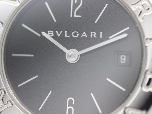 BVLGARI ブルガリ ブルガリブルガリ 時計 ステンレススチール ブラック文字盤 クォーツ レディース BB26SSD【471】 image number 1