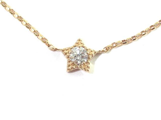 ノンブランドジユエリー ブレスレット K18 イエローゴールド  ダイアモンド0.07ct  約0.8g【472】KS image number 1