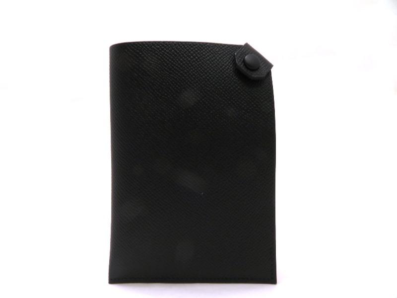 HERMES エルメス ポルトパスポートターマックPM ブラック 【刻印】A【472】SS