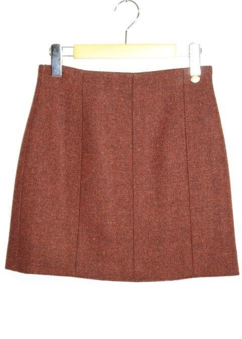 CHANEL シャネル スカート レディース36 ブラウン ウール シルク P59069V44833 定価¥189200 【200】