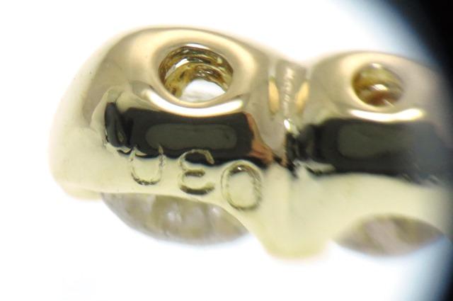JEWELRY 貴金属・宝石 ノンブランド ペンダントトップ K18イエローゴールド クロスモチーフ ダイヤモンド0.30ct 3.3g 【205】 image number 1