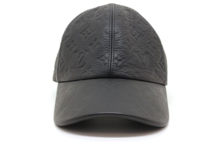 LOUIS VUITTON ルイヴィトン 帽子 キャスケット・1.1 モノグラム 牛革 コットン ノワール 2019年 MP2606 定価:¥125,400 【200】