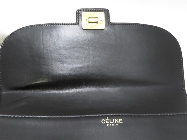 CELINE セリーヌ ワンショルダー ブラック/GP カーフ 【430】2143800127992 image number 1