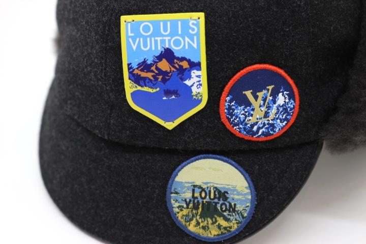 LOUIS VUITTON ルイヴィトン 帽子 キャスケット・ファーアルプス グレー ウール カシミヤ 牛革 2018年 【200】 image number 4