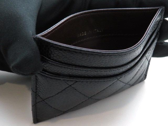 CHANEL シャネル カードケース A31510 ブラック キャビアスキン 【205】 image number 3