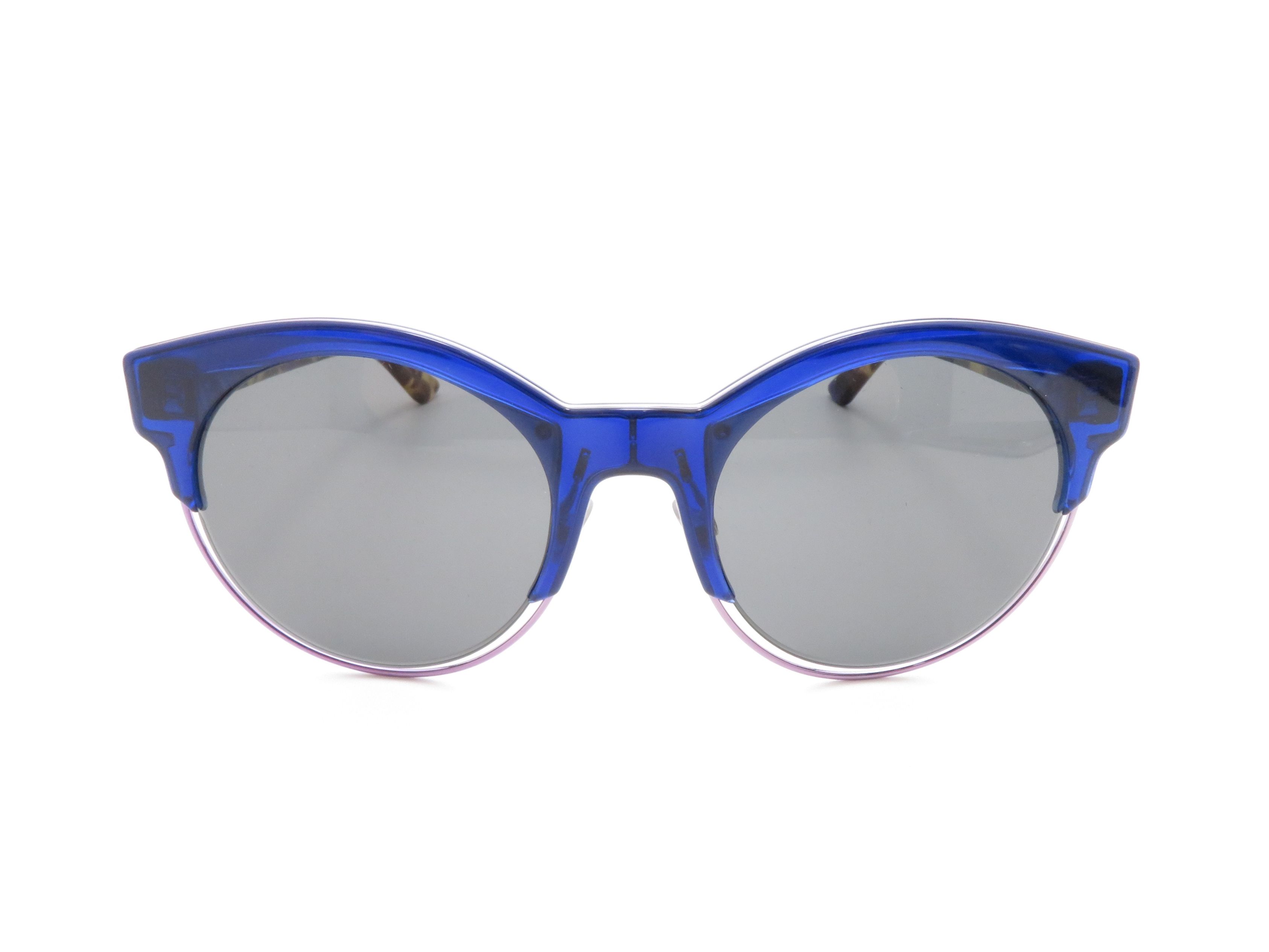 Dior ディオール サングラス ブルー/ブラウン プラスチック 【437】