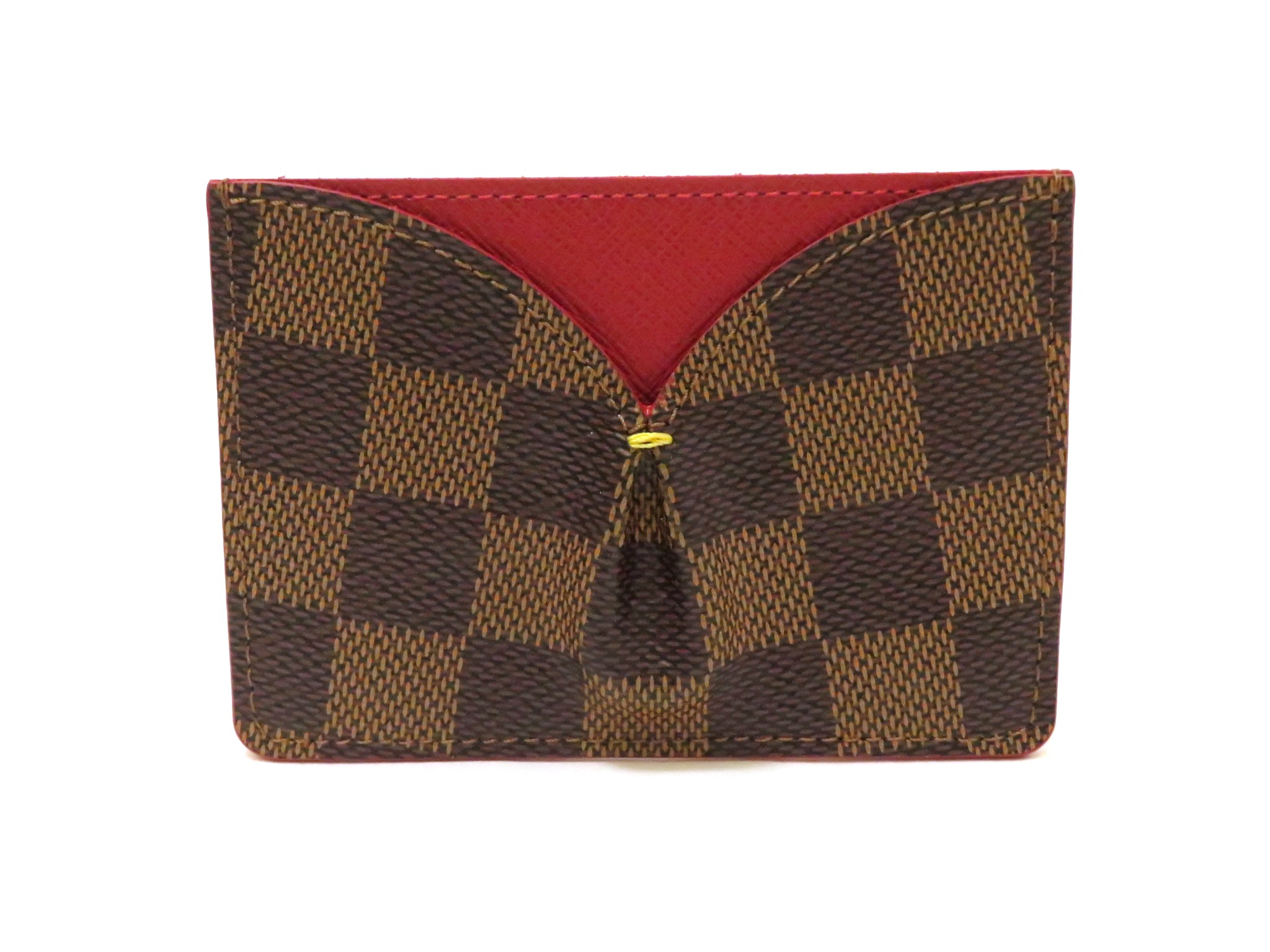 LOUIS VUITTON ルイヴィトン カードケース ポルトカルトカイサダミエスリーズ エベヌ N61219 【472】MY image number 0