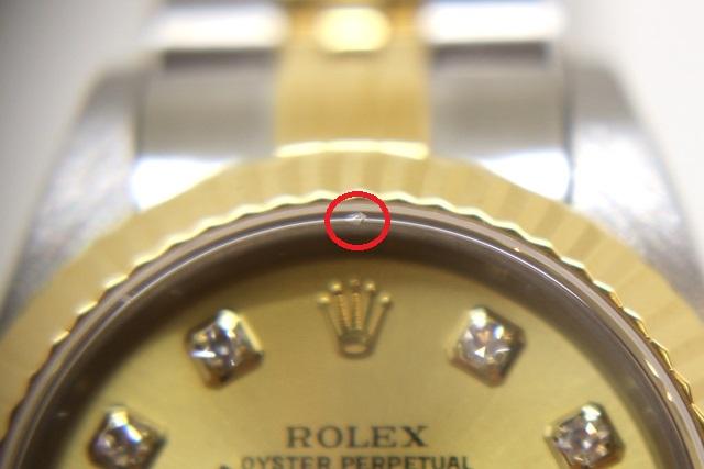Y番(2002~3年頃)ROLEX ロレックス 時計 デイトジャスト 79173G レディース オートマチック YG/SS イエローゴールド/ステンレス シャンパン文字盤 10Pダイヤ 100m防水 (2148103263897) 【200】 image number 9