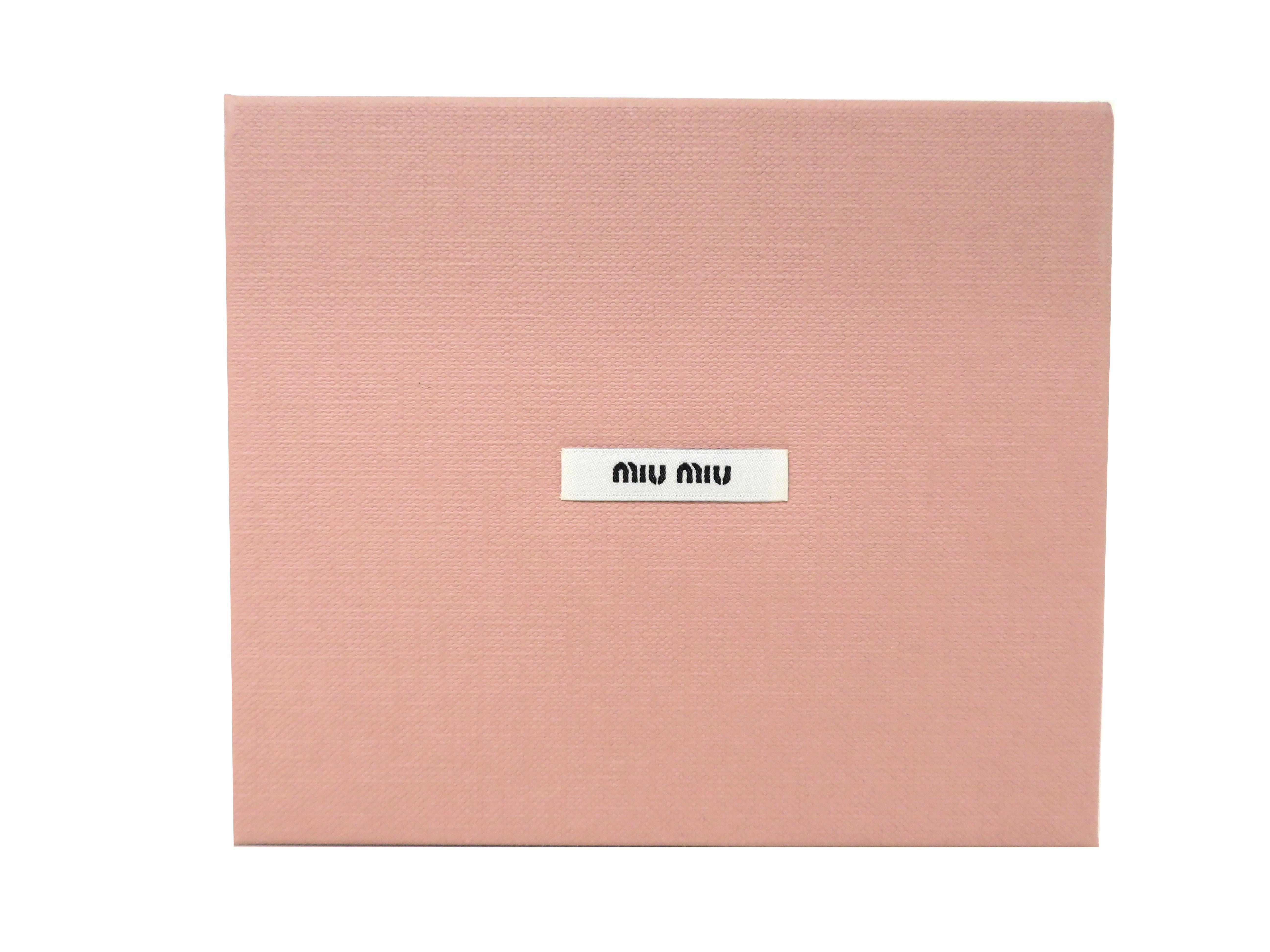 miumiu ミュウミュウ 財布 Wホックコンパクト財布 ブラック ラムスキン 5MH523 【204】 image number 8