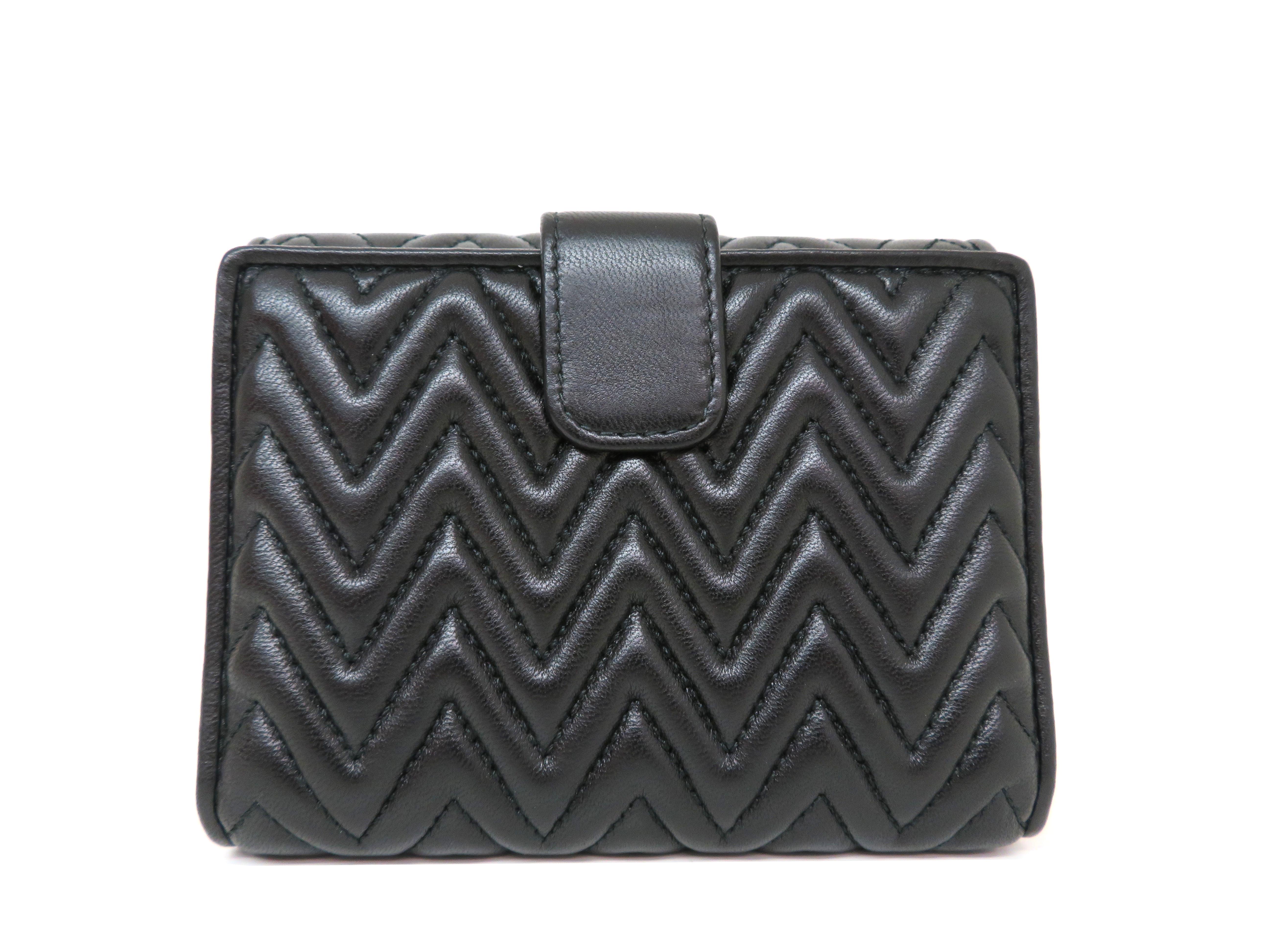 miumiu ミュウミュウ 財布 Wホックコンパクト財布 ブラック ラムスキン 5MH523 【204】 image number 1