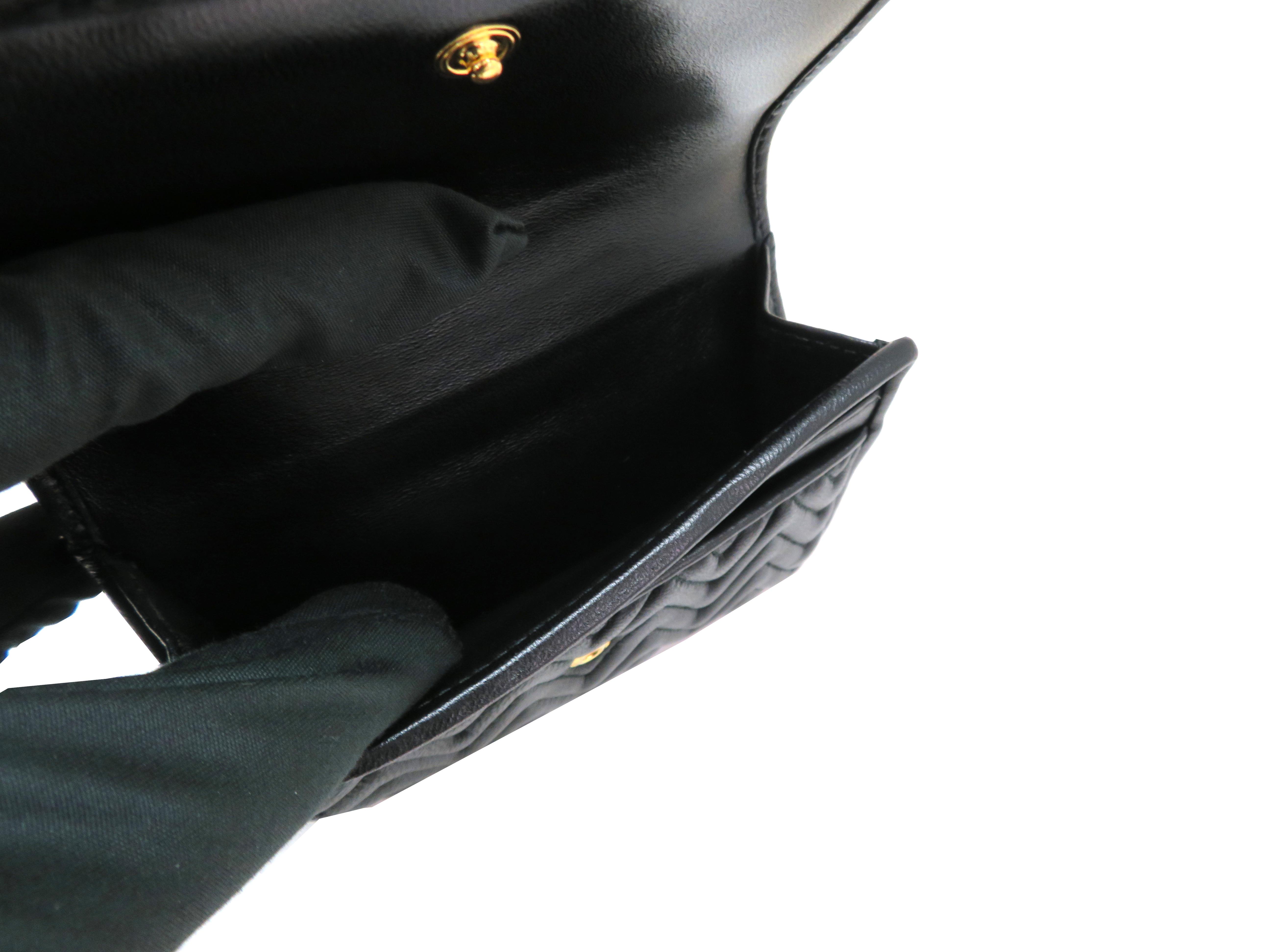 miumiu ミュウミュウ 財布 Wホックコンパクト財布 ブラック ラムスキン 5MH523 【204】 image number 6