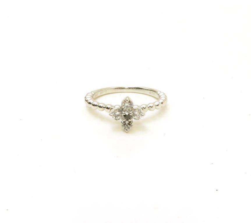 ノンブランドジュエリー MJC  リング  K18ホワイトゴールド ダイヤモンド0.30カラット ブラックダイヤモンド 約2.8g 12号【472】AH