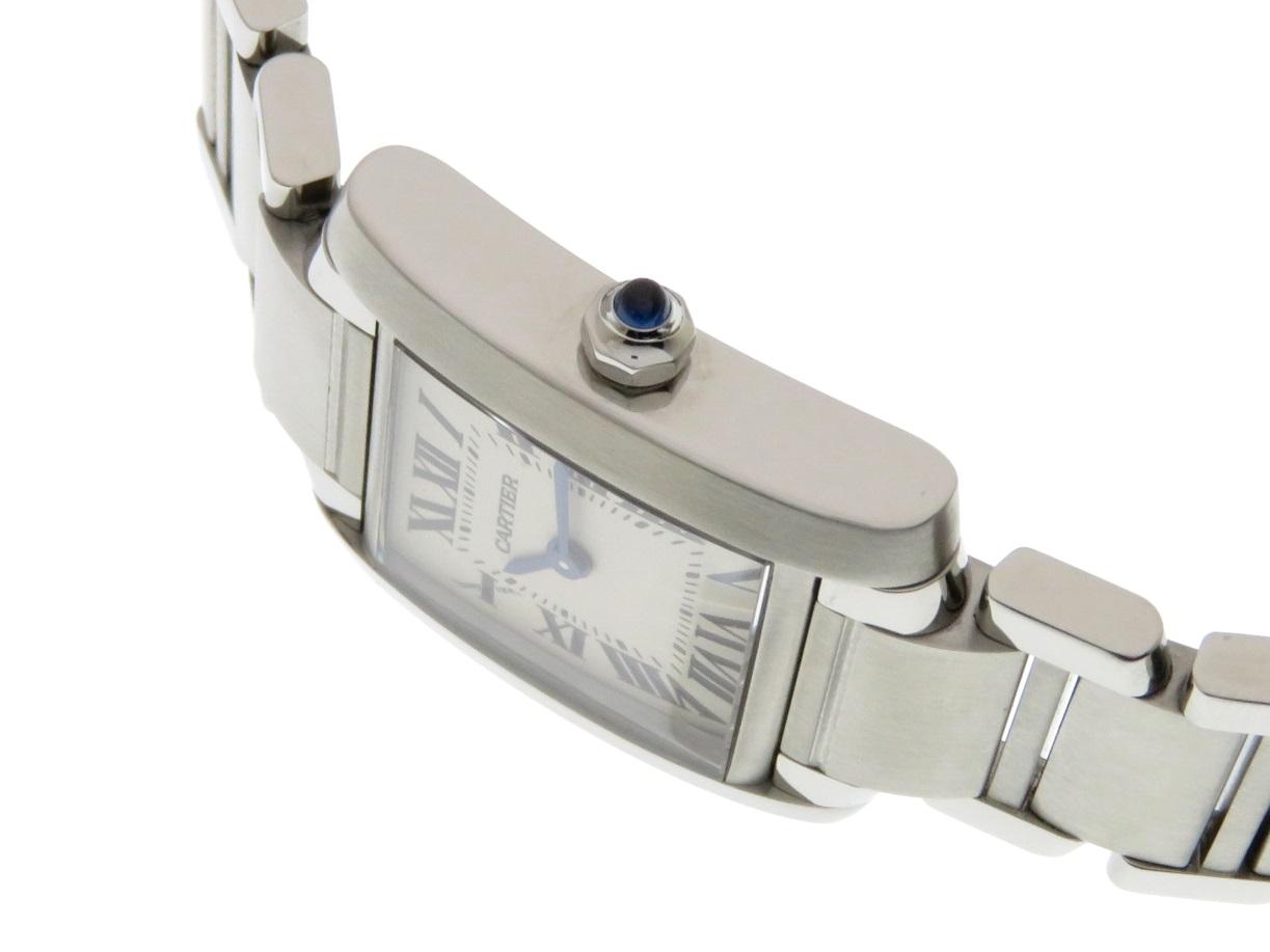 Cartier カルティエ タンクフランセーズ SM ステンレススチール ホワイト文字盤 クオーツ 【437】 image number 6