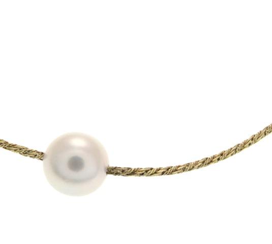 JEWELRY ノンブランド 貴金属・宝石 ブレスレット K18イエローゴールド パール 1.8g【205】 image number 1