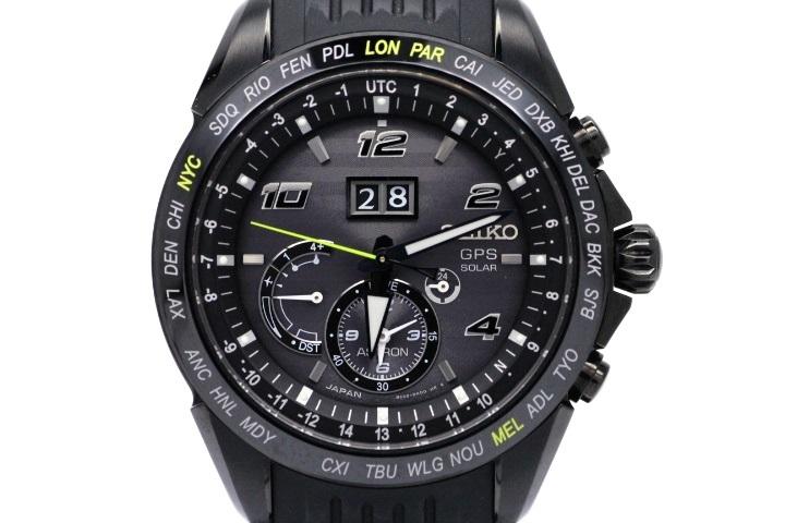 SEIKO セイコー 時計 メンズ GPSソーラー アストロン ノバク・ジョコビッチ2017年限定5000本モデル SBXB143 ブラック文字盤 ステンレス セラミック HK【472】