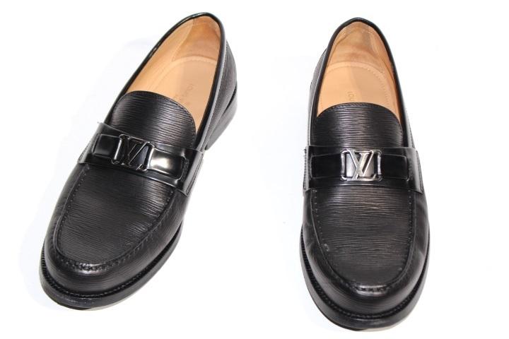 LOUIS VUITTON ルイヴィトン 革靴 メンズ6ハーフ 約25.5cm ブラック レザー 2020年 【200】