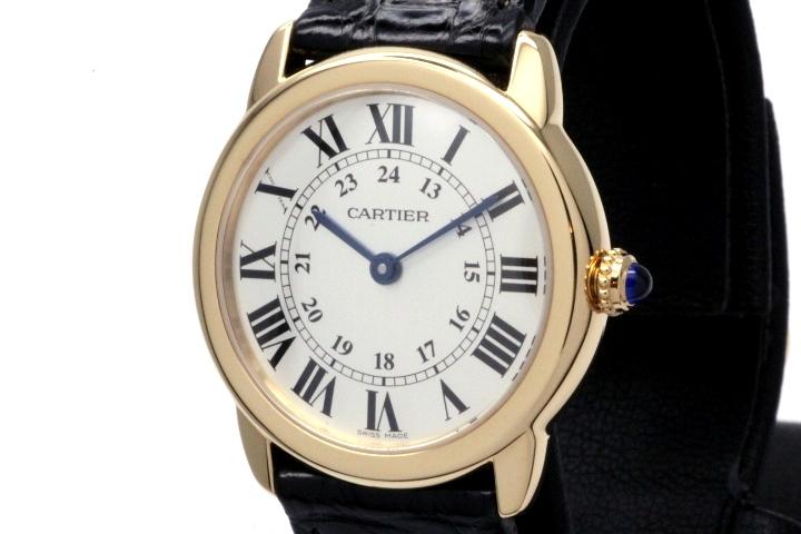 Cartier カルティエ 時計 レディース クオーツ ロンドソロSM W6700355 シルバー文字盤 イエローゴールド ステンレス HK【472】
