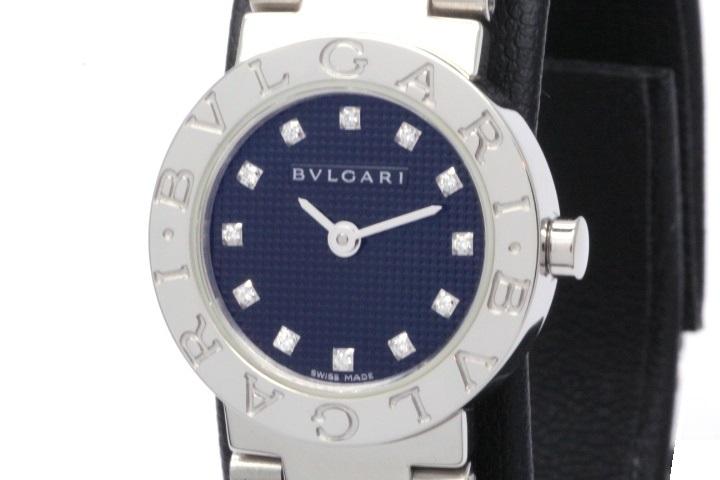 BVLGARI ブルガリ 時計 レディース クオーツ BB23SS ブラック12PD文字盤 ステンレス【471】 image number 0