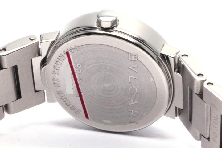 BVLGARI ブルガリ 時計 レディース クオーツ BB23SS ブラック12PD文字盤 ステンレス【471】 image number 4
