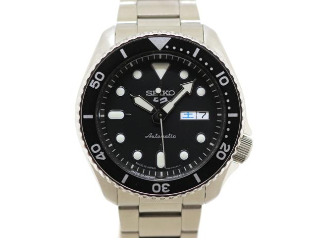 SEIKO セイコー 時計 セイコー5 スポーツ ダイバー SNZB23J1 ステンレススチール オートマチック メンズ腕時計 シースルーバック (2147300287620)【200】