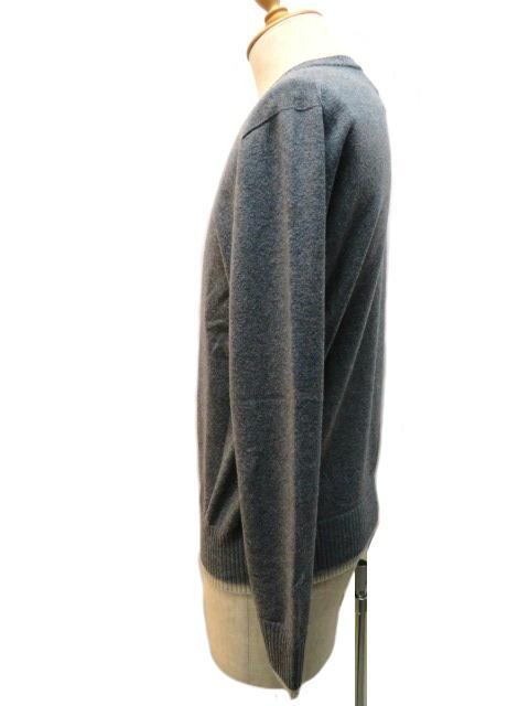 HERMES エルメス セーター メンズ M グレー ウール 【432】