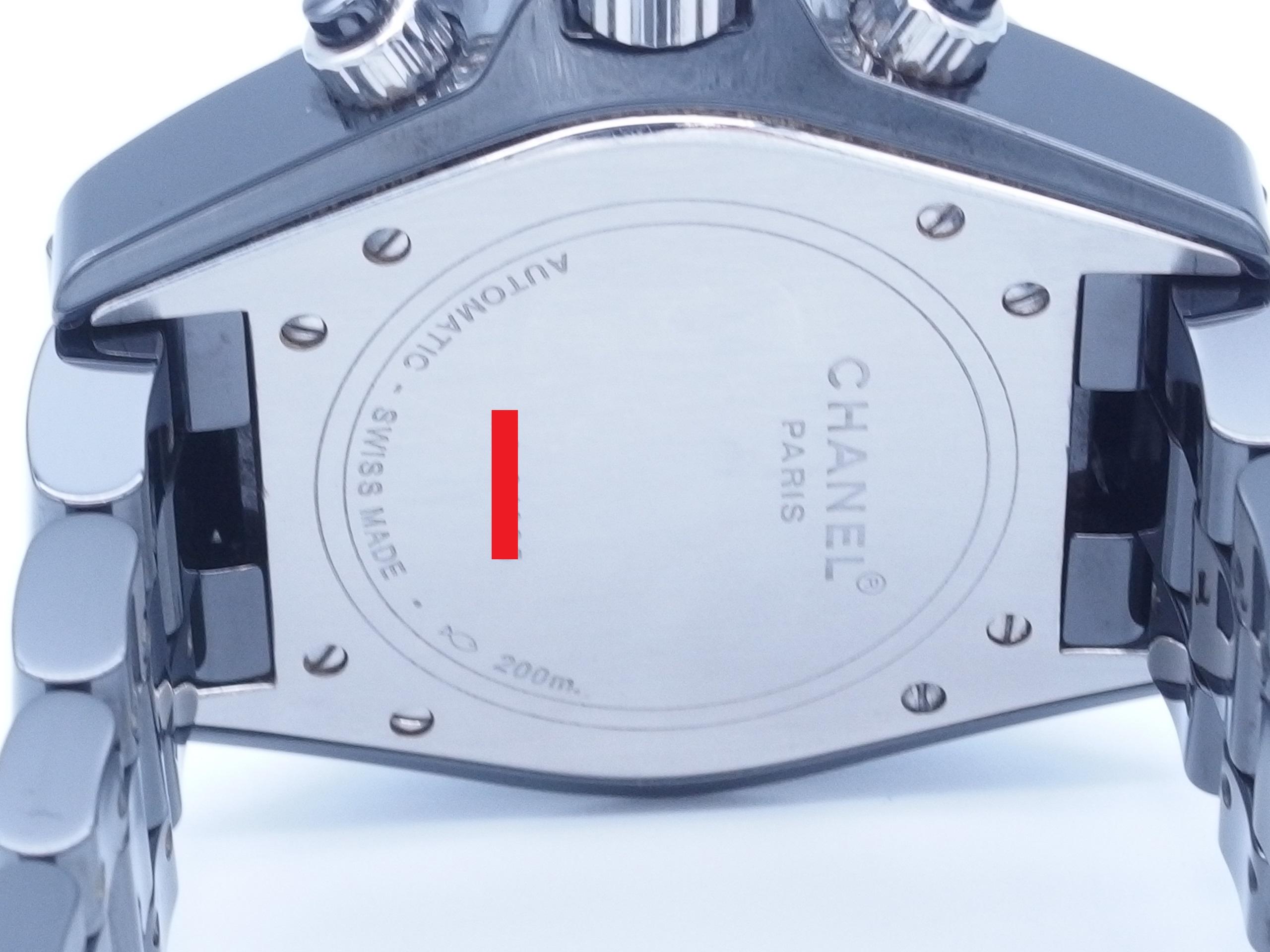 CHANEL シャネル J12 クロノ H0940 CE 自動巻き ブラック【432】 image number 3
