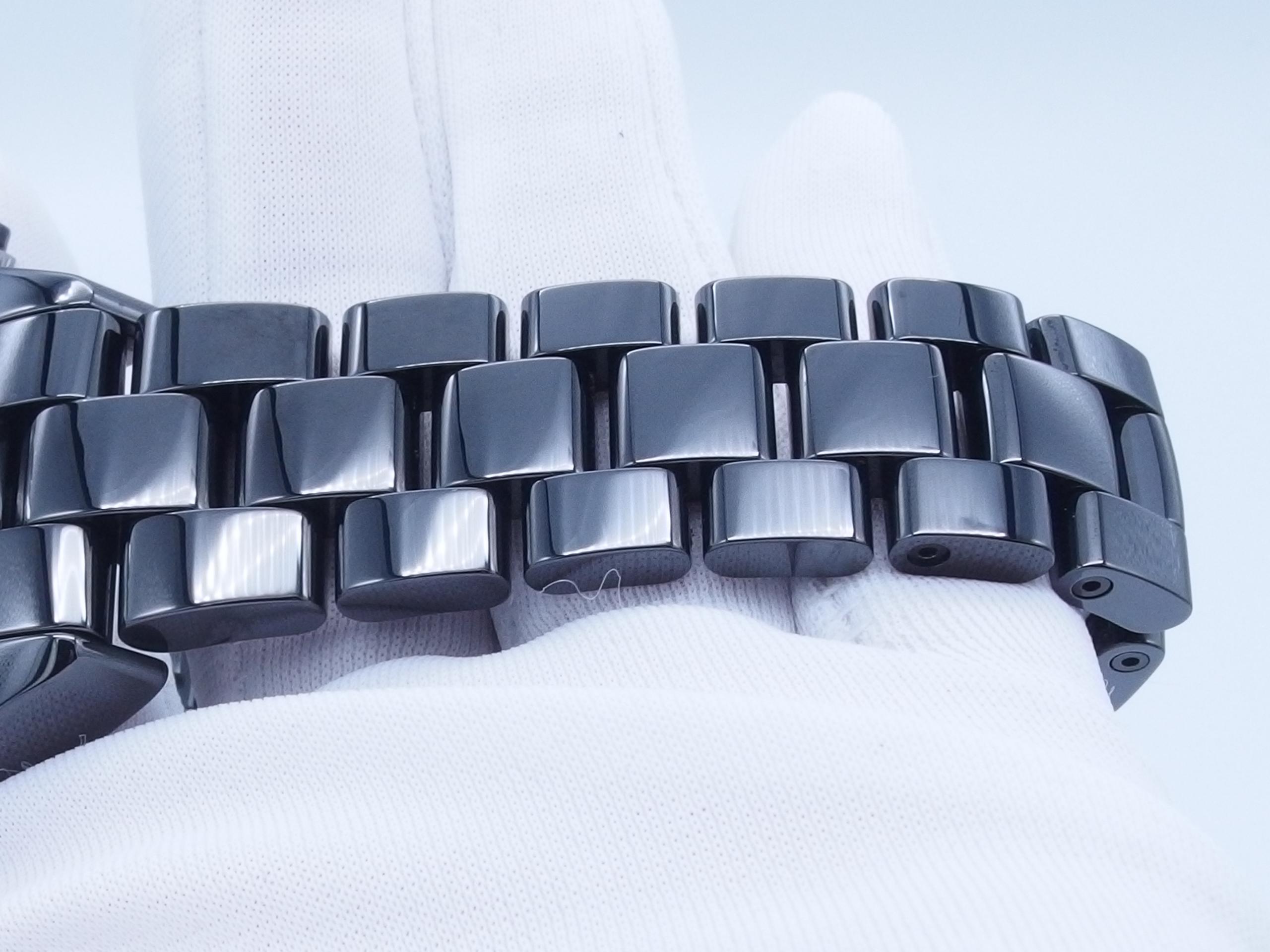 CHANEL シャネル J12 クロノ H0940 CE 自動巻き ブラック【432】 image number 5