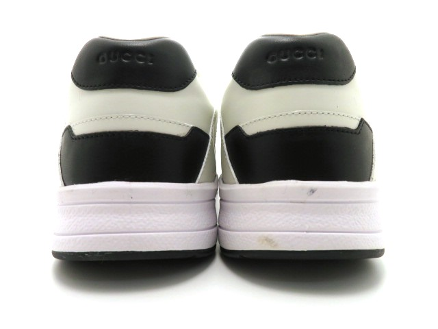 GUCCI グッチ スニーカー カーフ ホワイト/ブラック メンズ9 【4342】 image number 3