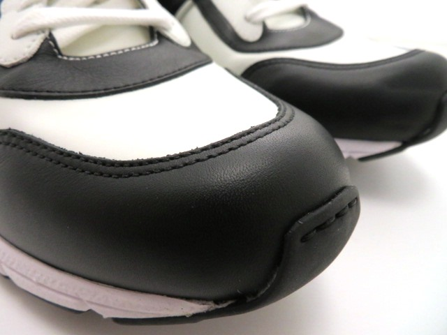 GUCCI グッチ スニーカー カーフ ホワイト/ブラック メンズ9 【4342】 image number 4