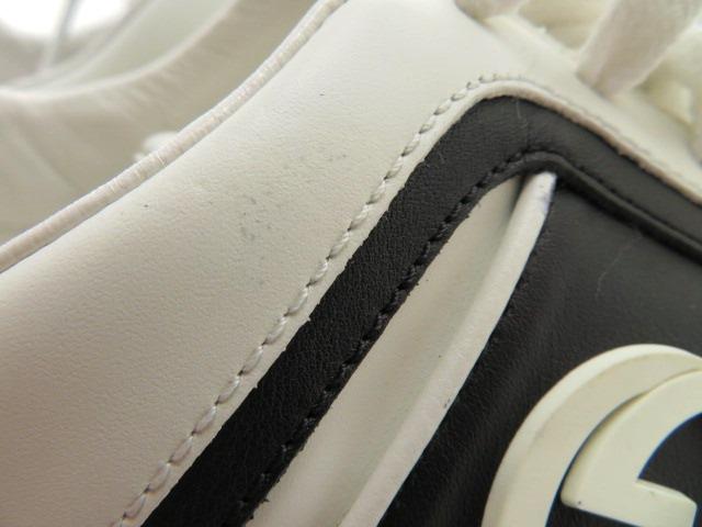 GUCCI グッチ スニーカー カーフ ホワイト/ブラック メンズ9 【4342】 image number 7