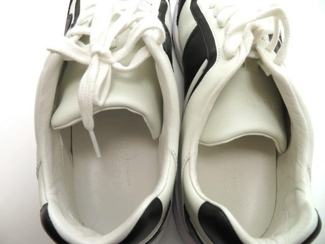 GUCCI グッチ スニーカー カーフ ホワイト/ブラック メンズ9 【4342】 image number 8