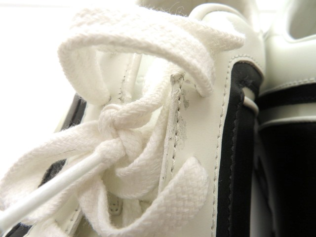 GUCCI グッチ スニーカー カーフ ホワイト/ブラック メンズ9 【4342】 image number 10
