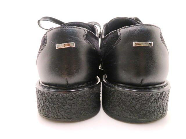 LOUIS VUITTON ルイ・ヴィトン 革靴 厚底 スエード/レザー ブラック メンズ6 【200】 image number 3
