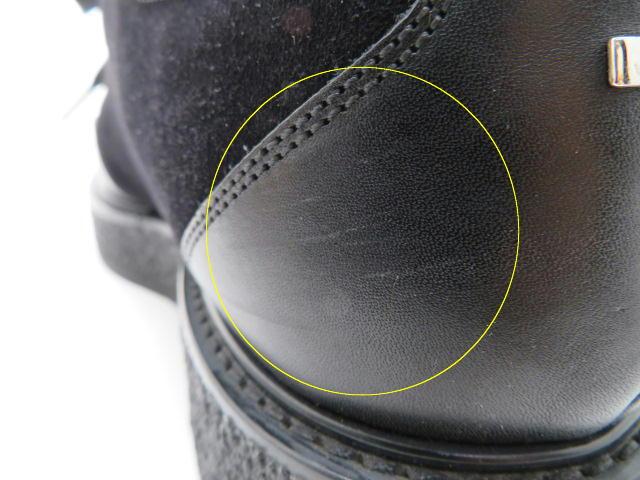 LOUIS VUITTON ルイ・ヴィトン 革靴 厚底 スエード/レザー ブラック メンズ6 【200】 image number 4