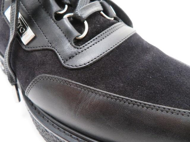 LOUIS VUITTON ルイ・ヴィトン 革靴 厚底 スエード/レザー ブラック メンズ6 【200】 image number 5