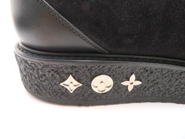 LOUIS VUITTON ルイ・ヴィトン 革靴 厚底 スエード/レザー ブラック メンズ6 【200】 image number 6
