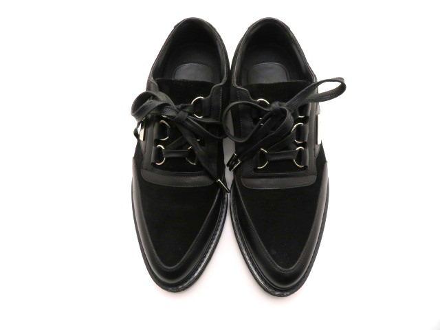 LOUIS VUITTON ルイ・ヴィトン 革靴 厚底 スエード/レザー ブラック メンズ6 【200】 image number 8