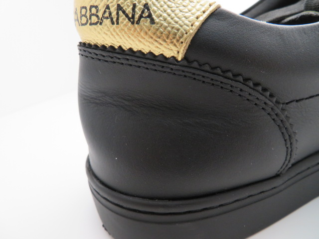 DOLCE&GABBANA ドルチェ&ガッパーナ スニーカー レザー ブラック メンズ9 【432】 image number 4